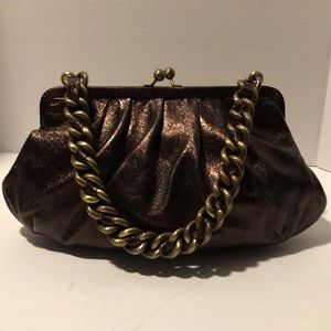 New/with Tags. JANE AUGUST Leather Chain Bag